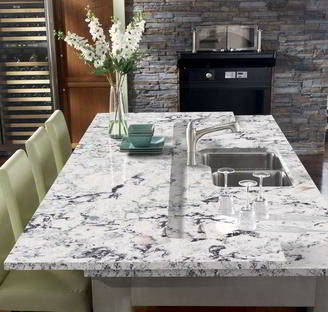 Cambria countertops white and gray