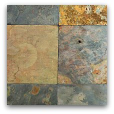 colorful slate tile for outdoor kitchen countertop