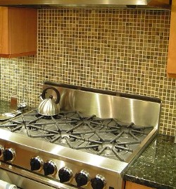 been a big fan of the small tile assorted color backsplash if only for