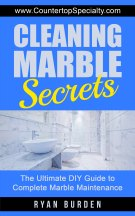 cleaning marble secrets ebook cover blue with marble countertops