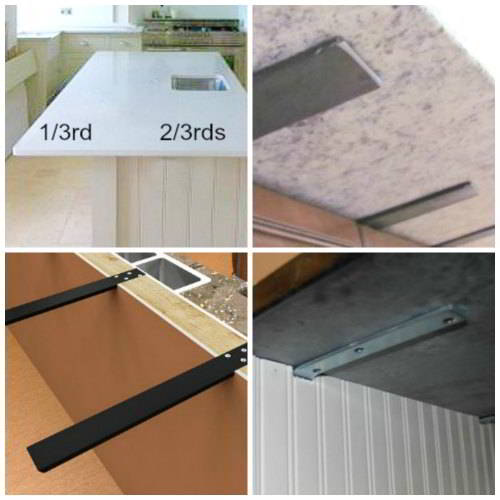 Perfect Corbel Styles For Granite Countertop Overhangs With Overhang