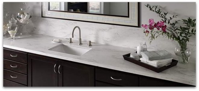 Corian solid surface bathroom countertops looks like marble