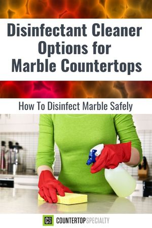 how to disinfect marble woman cleaning countertops