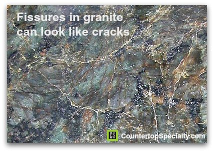 fissures can look like cracks in granite countertop