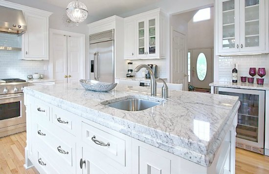 Countertop That Looks Like Marble : Which Granite looks like White Carrara Marble?