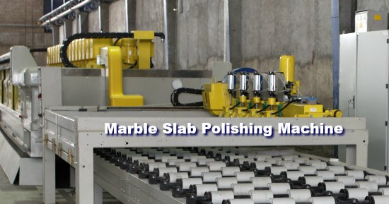 Industrial marble slab polishing machine