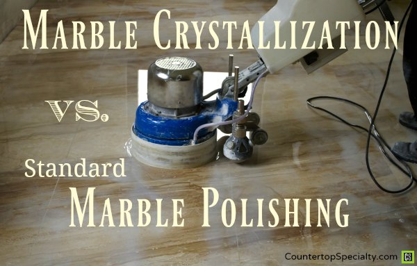 crystallization compared to marble polishing machine on floor tile