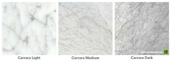Granite Looks Like White Carrara Marble