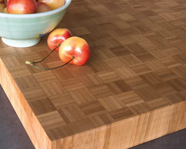 bamboo countertops end grain parquet butcher block style