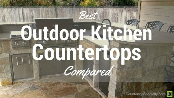 Outdoor kitchen with granite countertops, bbq, appliances, bar stools and stone floor