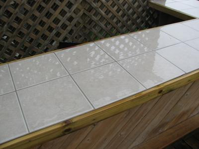 Ceramic Tile Outdoor Kitchen Countertop
