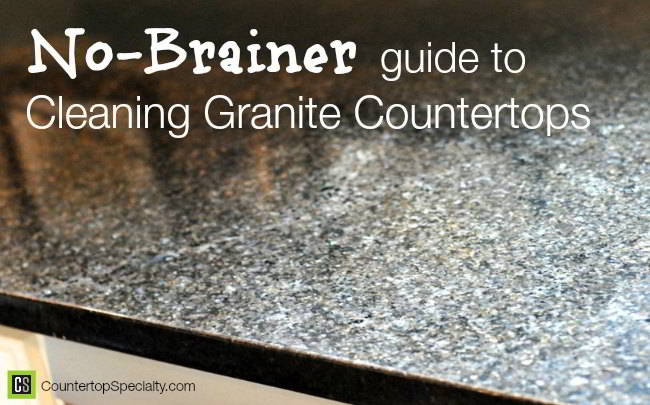 Cleaning Granite Countertops Guide   Routine Care   Black Granite