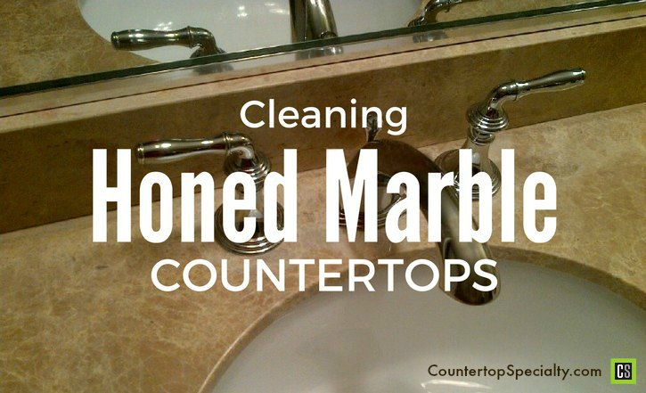 cleaning marble tips - honed marble countertops, bathroom sink and faucet