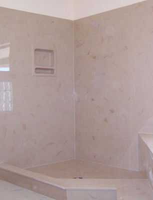 Not J's shower-- but an example of cultured marble