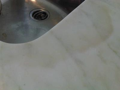 Dark Stain On Marble Countertop