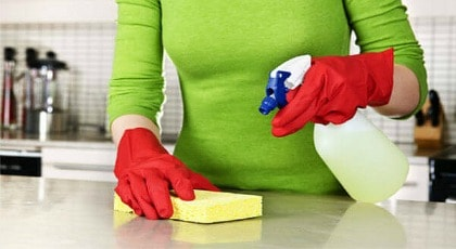 How to Disinfect Marble Countertops