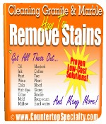 granite marble stains