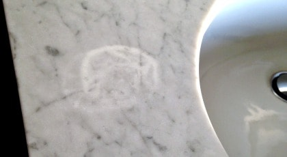 Removing Water Stains on Marble