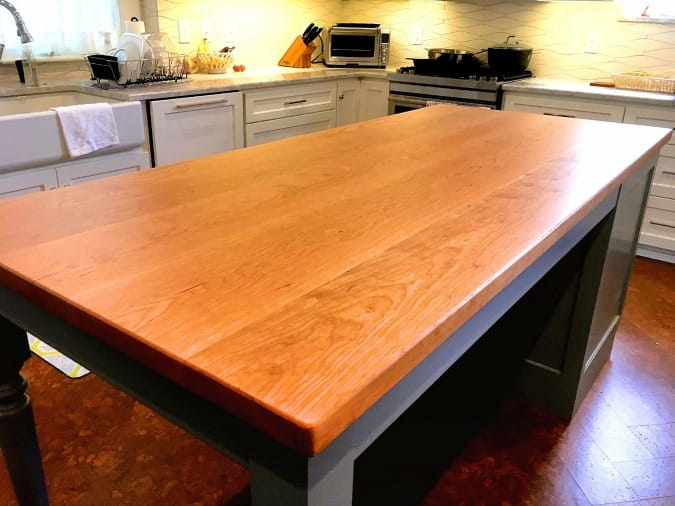 face grain wood countertops cherry