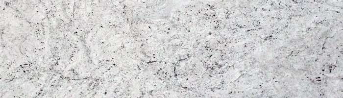 Colonial white granite countertop color displays an spacious pattern with movement