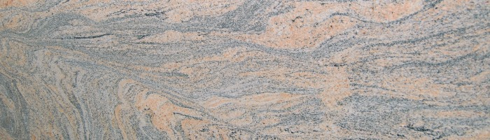granite countertop color Indian Juparana displays a flowing pattern movement