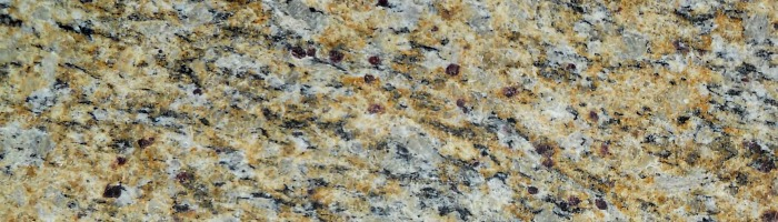 Santa Cecilia granite color sample displays both a structured pattern with subtle movement.