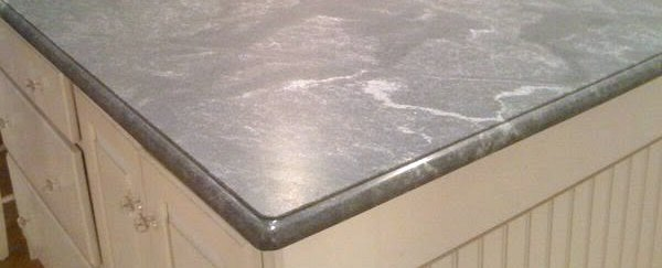 this honed granite countertop has a silky smooth satin matte finish