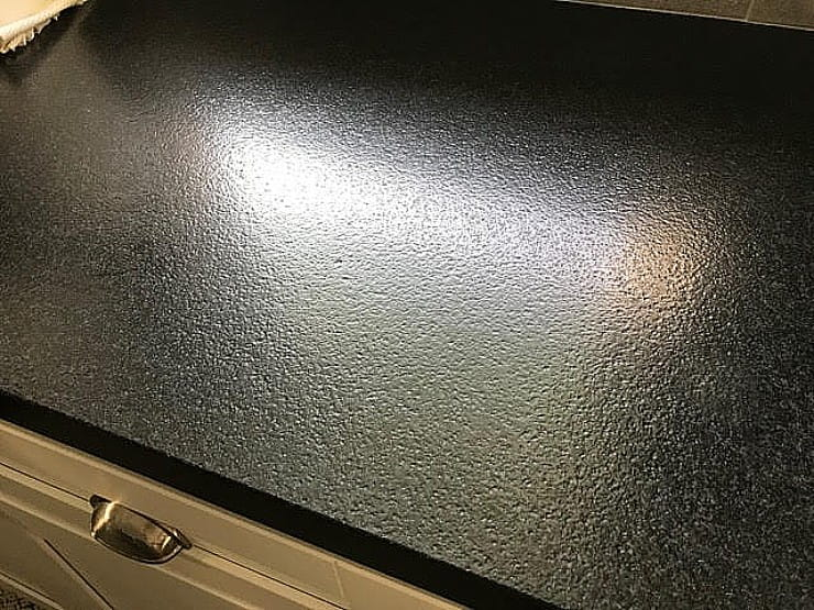 antiqued leathered black granite countertop - how to clean and maintain