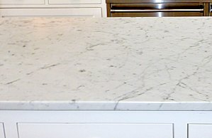 Honed Carrara Marble Kitchen Countertops