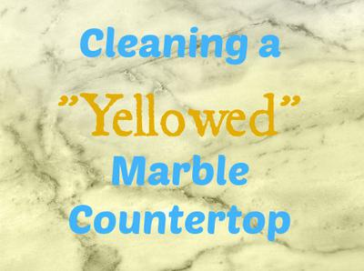 Cleaning Yellow Marble Countertop