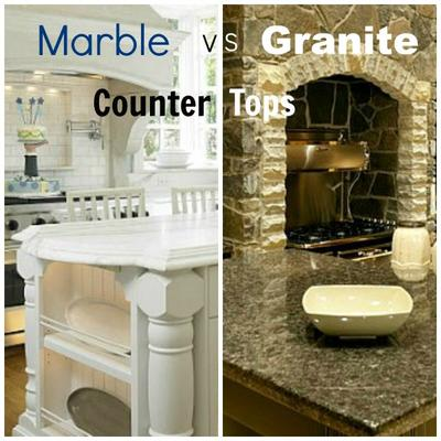 marble vs granite kitchen countertop
