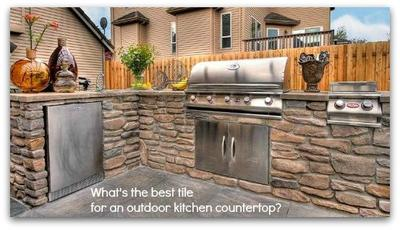 Outdoor Kitchen Countertop Tile