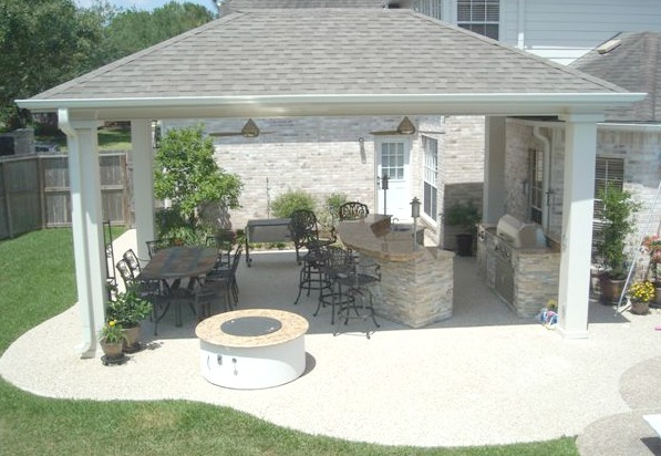 But The Best Way To Deal With This Issue Is To Build A Roof Or Pergola Over  The Outdoor Kitchen Countertops. A Pergola Will Likely Provide Enough Shade  To ...