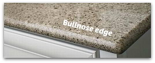 Bullnose quartz countertop edges silestone