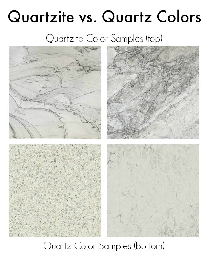 Comparison Of Quartzite Vs Quartz Countertop Colors