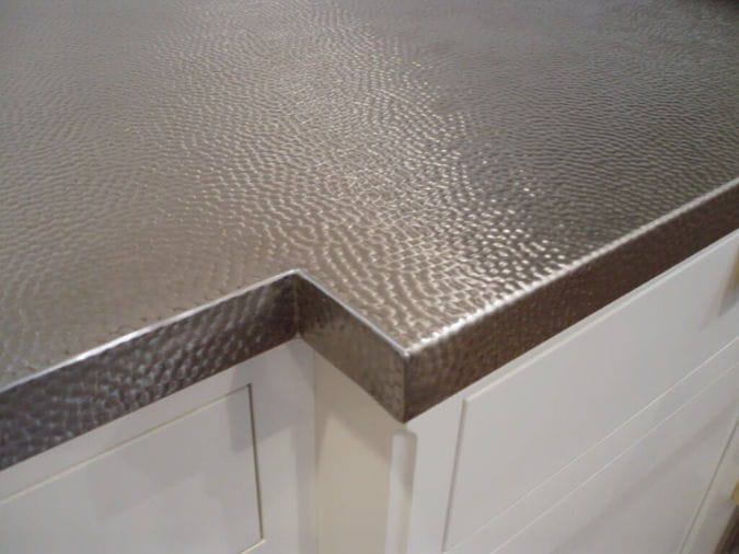 stainless steel countertops hammered finish