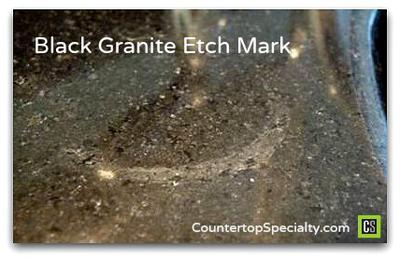Stains On Black Galaxy Granite