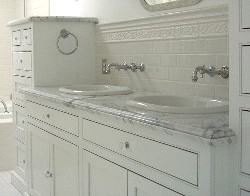 Carrara Marble Bathroom Countertop vanity