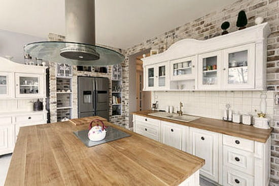 Wood Countertops Face Grain Kitchen Island