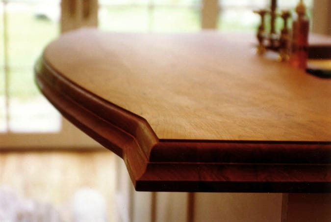wood countertops ogee edge detail