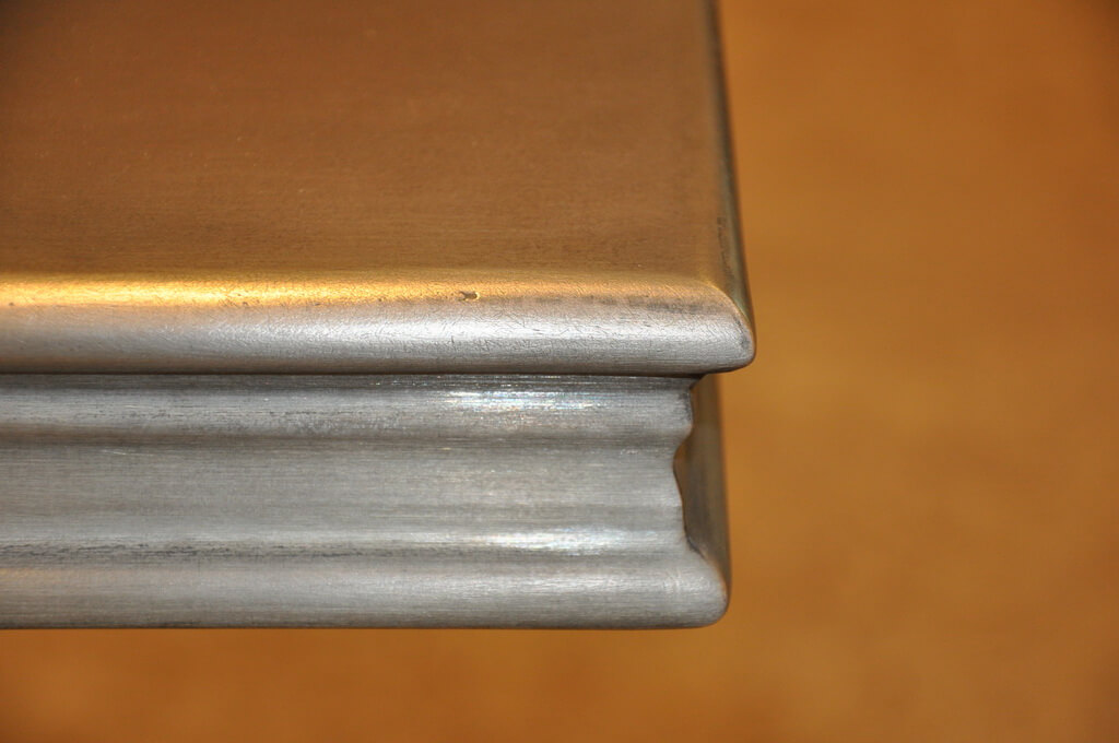 zinc metal countertop edge detail